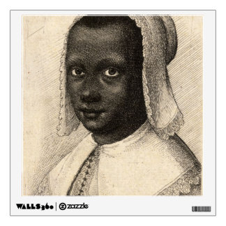 Young Negress by Wenceslaus Hollar Wall Sticker