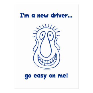 Young New Teen Driver Postcard