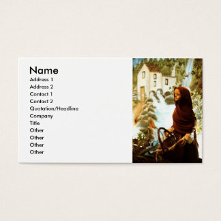 Young nordic girl business card