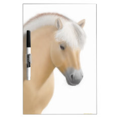 Young Norwegian Fjord Horse Dry Erase Board at Zazzle