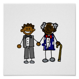 Young Old Black Gay Couple Poster