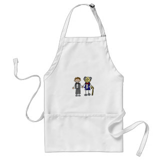 Young Old White Asian Gay Grooms Adult Apron