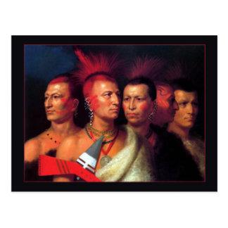 Young Omahaw, War Eagle, Little Missouri & Pawnees Postcard