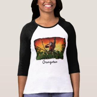 Young Orangutan & Jungle Sunrise Wildlife Shirt
