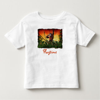 Young Orangutan & Jungle Sunrise Wildlife Shirt