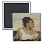 Young Orphan in the Cemetery, 1824 2 Inch Square Magnet