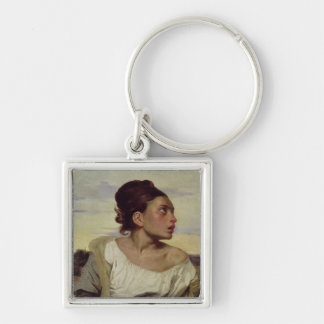 Young Orphan in the Cemetery, 1824 Keychain