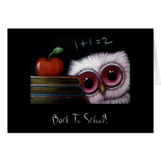 YOUNG OWL BACK TO SCHOOL Card