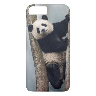 Young Panda climbing a tree, China iPhone 8 Plus/7 Plus Case