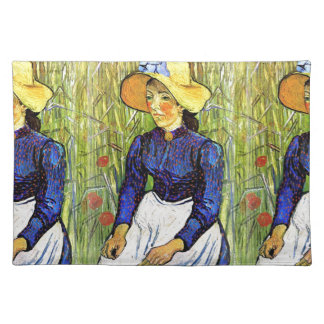 Young Peasant Girl by Vincent van Gogh 1890 Cloth Placemat