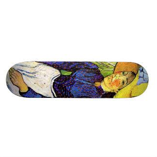 Young Peasant Girl by Vincent van Gogh 1890 Custom Skate Board