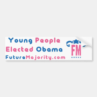 Young people elected obama bumper sticker