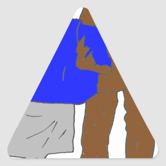 YOUNG PEOPLE PLUS LONGTEMPS.png Triangle Sticker