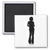 Young Person Silhouette Magnet