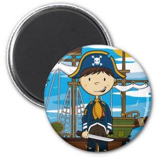 Young Pirate Captain Magnet Fridge Magnet