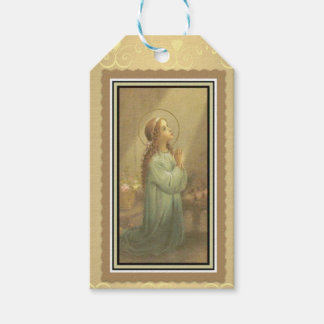 Young Praying Virgin Madonna Mary Gift Tags