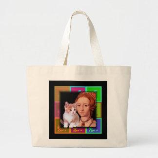 Young  Princess Elizabeth I Portrait 3 Large Tote Bag