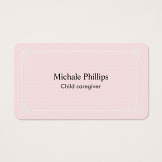Young professional infantile nursemaid elegant business card