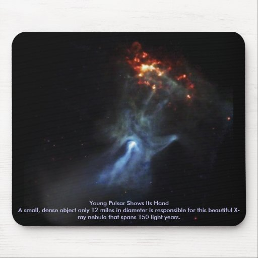 Young Pulsar Shows Its Hand Mouse Mat