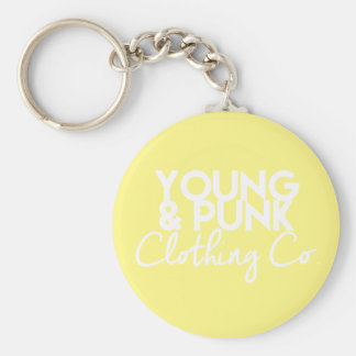 YOUNG&PUNK Clothing Co. Key Jewelry Basic Round Button Keychain