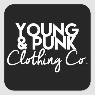 """YOUNG&PUNK Darth-""""Stick-er it to the Man"""" Square Sticker"""