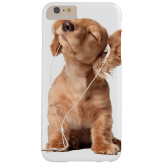 Young Puppy Listening to Music on Headphones Barely There iPhone 6 Plus Case