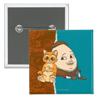 Young Puss & Humpty 2 Inch Square Button