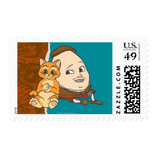 Young Puss & Humpty Stamp