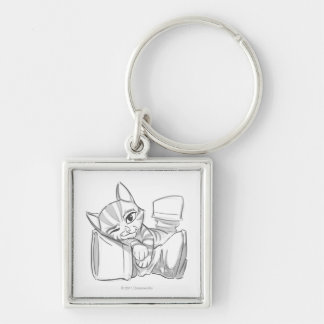 Young Puss In Boots Keychain