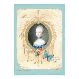 Young Queen Marie Antoinette Butterfly Print Card