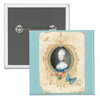 Young Queen Marie Antoinette Button