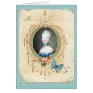 Young Queen Marie Antoinette Card Invitation