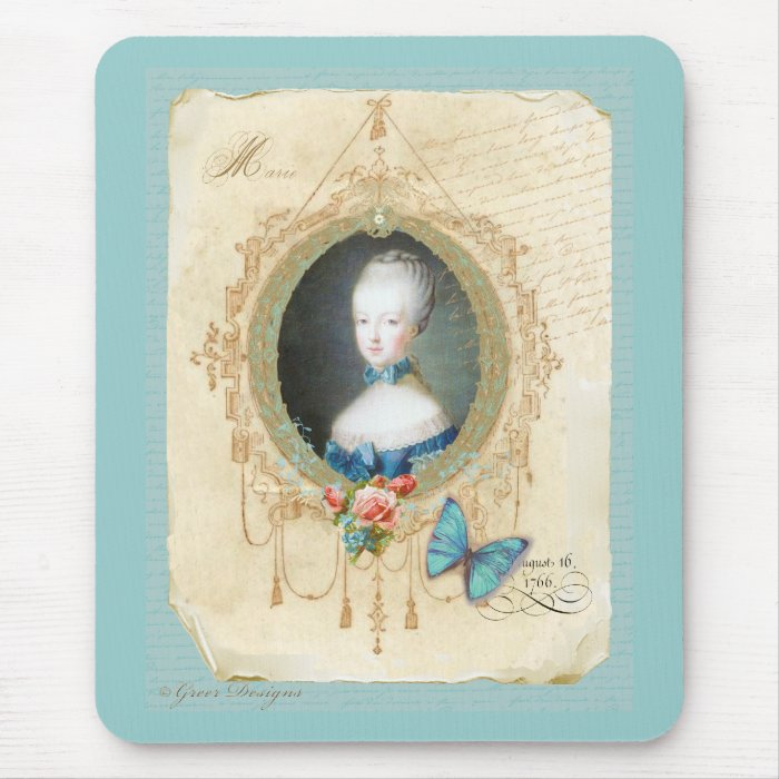 Young Queen Marie Antoinette Mouse Pad