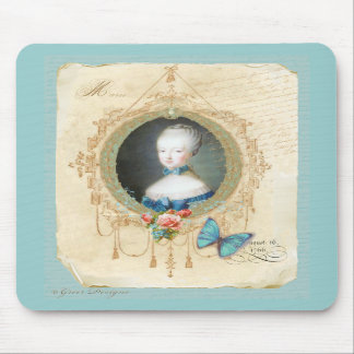 Young Queen Marie Antoinette n Butterfly Mousepad