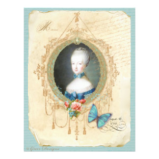 Young Queen Marie Antoinette n Butterfly Print Flyer