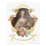 Young Queen Marie Antoinette Pink Roses Cards Custom Invites