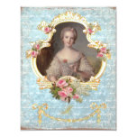 Young Queen Marie Antoinette Pink Roses Invitation