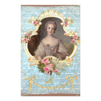 Young Queen Marie Antoinette Pink Roses Invitation Stationery