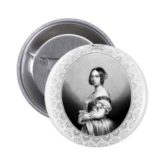 Young Queen Victoria 2 Inch Round Button