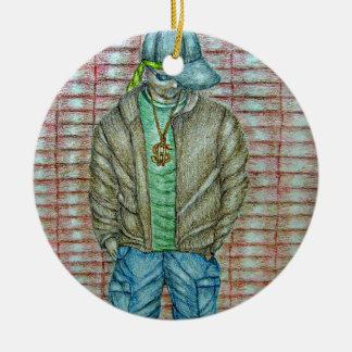 young rapper ceramic ornament