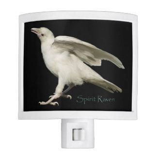 Young Rare White Raven - Spirit Raven Night Light
