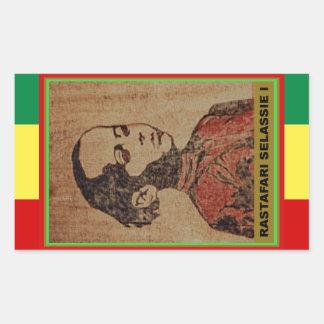 Young Ras, Young Haile Selassie I, Jah Rastafari Rectangular Sticker