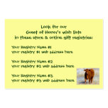 Young Red Cow Shower Gift Registry Western Large Business Cards (Pack Of 100)