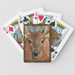 Young Red Deer Fawn Watercolor Art Wildlife Playing Cards