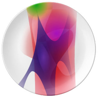 Young Redwood Abstract Image Porcelain Plates