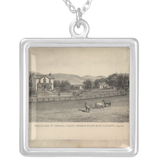 Young residences silver plated necklace