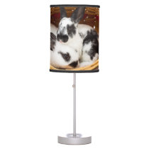 Young Rex rabbits in Easter basket 2 Desk Lamp