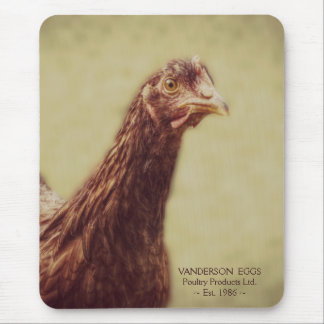 Young Rhodey Pullet Little Red Hen Chicken Mouse Pad