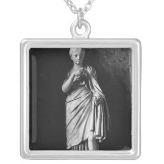 Young Roman girl Silver Plated Necklace