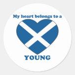 Young Round Sticker